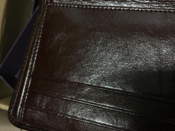 意大利L'ALPINA袋鼠钱包头层牛皮 短款男士钱夹油腊真皮小皮夹大容量驾驶证套 礼盒 薄 油蜡黑色 晒单图