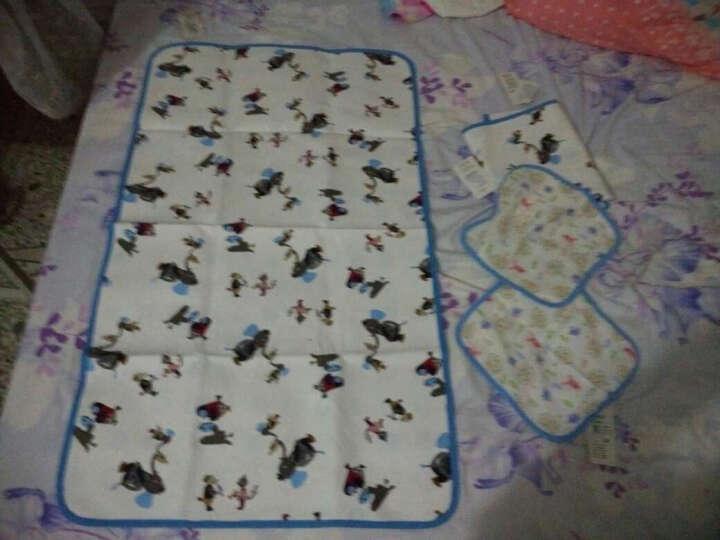 龙之涵 婴儿隔尿垫 2条装大号防水透气可水洗尿布垫 新生儿宝宝护理垫隔尿床垫 花儿朵朵 60*100cm 2条装 晒单图
