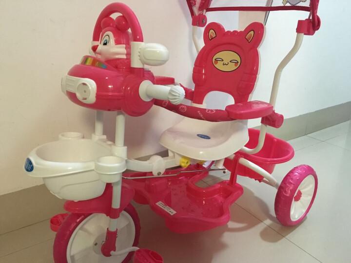 宝宝好 231婴儿脚踏车遮阳车小朋友手推车三轮自行车 公主粉 晒单图