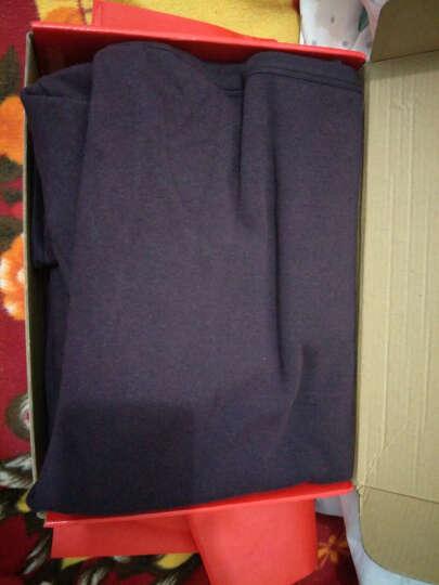 北极绒 保暖内衣男女士加厚加绒棉质套装 细羊毛一体超厚加绒保暖上衣加保暖裤套装 女黑色 女款175/105(XXL) 晒单图