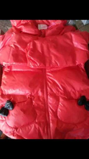 笛莎女童羽绒服冬装品牌童装女童甜美公主风外套舒适百搭中长款914 红色 160 晒单图