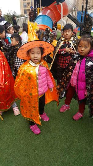 当康 万圣节服装儿童女男孩面具 大人派对生日演出化妆舞会万圣节道具表演服饰 耀桔魔法帽+披风 晒单图