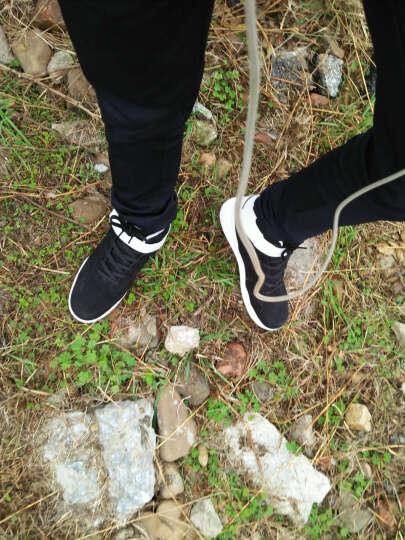 旗族 男鞋子跑步男士休闲运动百搭学生透气韩版高帮板鞋 男阿甘青少年鞋 198-蓝/色 时尚款 42 晒单图