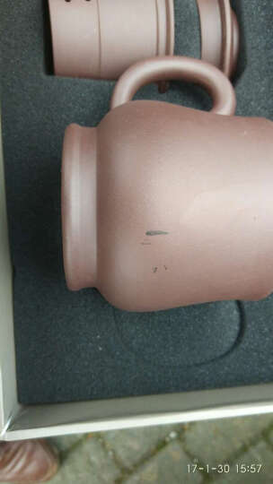 金镶玉 宜兴紫砂杯 茶杯水杯茶具办公杯带内胆过滤 寿比南山杯 晒单图