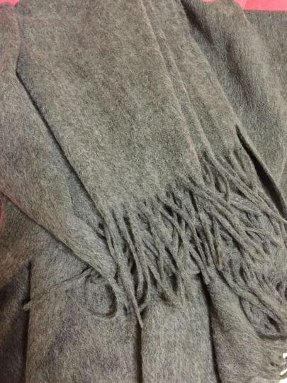 馨雨汀 新款秋冬纯色羊毛加厚长款男女老人通用羊绒围巾披肩围脖寒木春华 HM04 晒单图