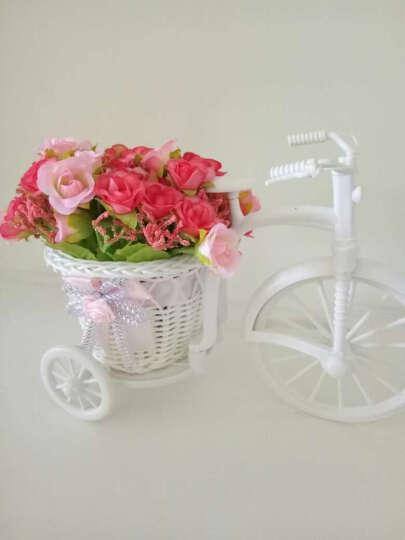 美美爱 藤编塑料花车 现代创意家居装饰品摆件 新房摆设 粉大轮瓶型粉色米苞 晒单图