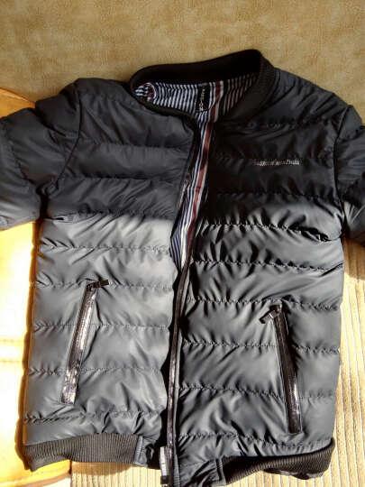Jeck Wolson 棉衣男款修身男装外套 男士休闲棉袄 防风轻便保暖棉服 黑色 3XL/185适合160到175斤 晒单图