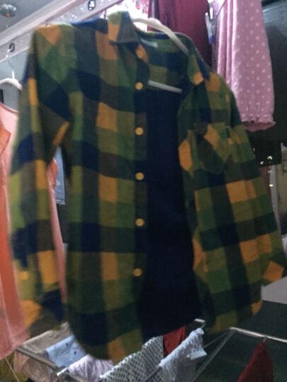 巴拉巴拉男童长袖衬衫中大童冬新款童装儿童纯棉加绒格子衬衣男厚 黄绿色调 130 晒单图