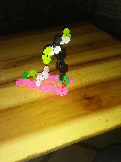美阳阳 加厚雪花片12色收纳盒装塑料积木拼插拼装宝宝儿童益智玩具 中号 3.3cm 300片收纳盒装 晒单图