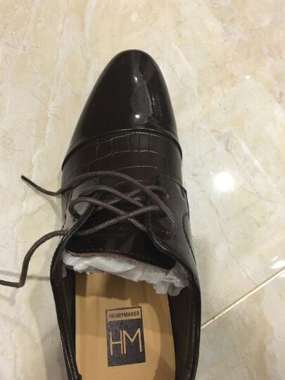 HENRYMAKER春夏男鞋休闲鞋男士英伦系带商务休闲皮鞋棉鞋正装鞋婚鞋鞋子男HM8015 黑色HM31527 43 晒单图
