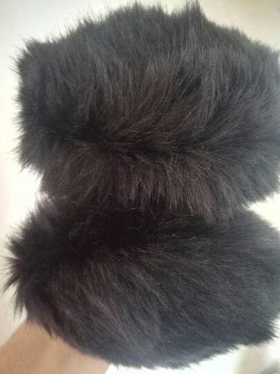 迪伊克(Dijk)保暖耳罩 韩版新款超萌仿兔毛户外防风耳套 黑色 晒单图