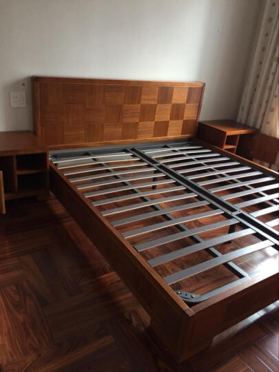 迪斯名媛 床头柜 中式实木卧室收纳柜 新中式东南亚槟榔色胡桃木卧室家具 左开门 晒单图