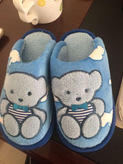 秋冬可爱卡通小熊居家儿童棉拖鞋