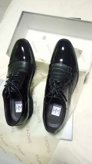 HENRYMAKER春夏男鞋休闲鞋男士英伦系带商务休闲皮鞋棉鞋正装鞋婚鞋鞋子男HM8015 棕色HM8015-1加绒 38 晒单图