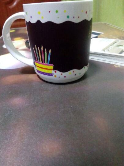 安若素 趣味写字马克杯子 创意实用变色陶瓷杯 送情侣朋友同学男女朋友闺蜜老婆爱人生日礼物 生日蜡烛 晒单图