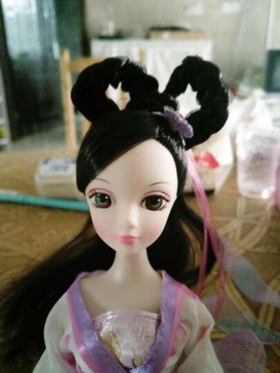可儿娃娃古装10关节体芭比娃娃七仙女公主中国古代传说洋娃娃套装玩具女孩 小七仙子+支架+鞋子 晒单图