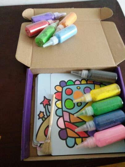 儿童沙画套装 宝宝手工制作DIY刮画胶画幼儿彩砂绘画玩具26张图案 童话乐园27幅图 晒单图