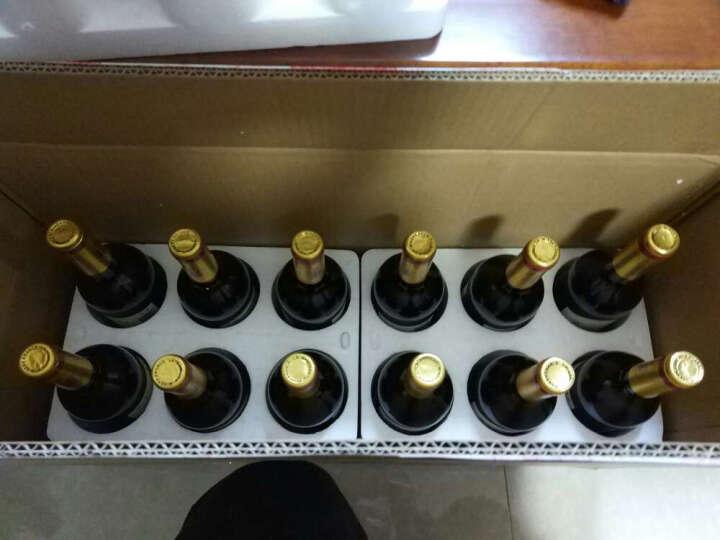京方丹 法国红酒 原瓶进口  拉云娜庄园佳酿干红葡萄酒750ml 6支礼袋装 晒单图