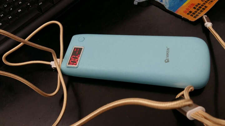 维肯(Viken) 移动电源充电宝15600毫安液晶显示 适用于 象牙白 8848钛金手机M3 M2 M1 晒单图