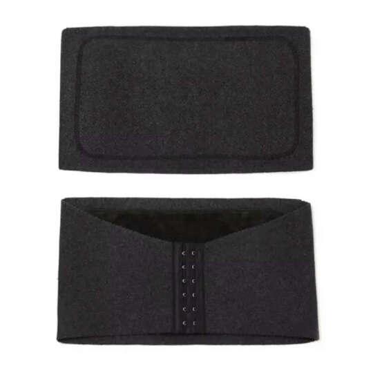 乐尔斯羊绒羊毛护腰带保暖加厚暖宫护胃收腹带男女 深灰色 M号 腰围2.3-2.7尺 晒单图