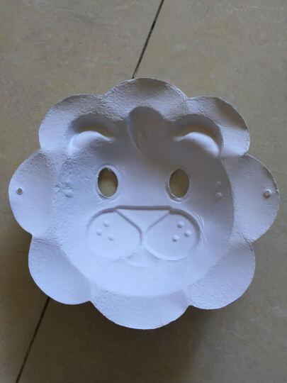 空白面具手工手绘白胚幼儿园儿童DIY制作美劳材料脸谱绘画涂色万圣节礼物 自绘白坯葫芦 晒单图