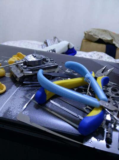 3D立体拼图金属模型星际坦克手工DIY军事模型拼装玩具圣诞节礼物礼品 蜘蛛鬼雷银色++送胶水工具 晒单图