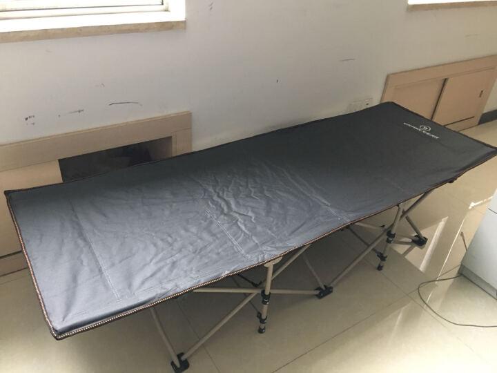 骆驼户外折叠床单人床躺椅便携午休床静音办公室午睡床加宽陪护床简易床 升级款-平头-酒红75CM+四季棉垫 晒单图