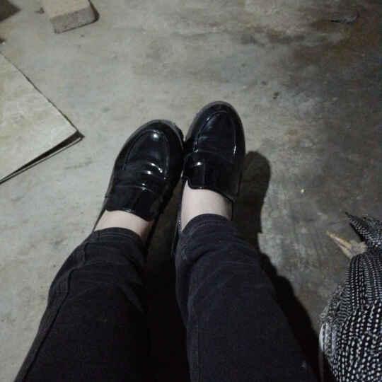 JK日本学院女中学生小黑皮鞋COS动漫节play圆头女仆制服单鞋-AB13 酒红色 38 晒单图