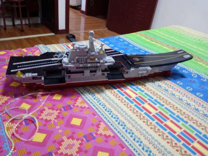 小鲁班 航空母舰舰队之辽宁号 积木拼插拼装玩具 航母模型军事 M38-B0388 小航母1059块 晒单图