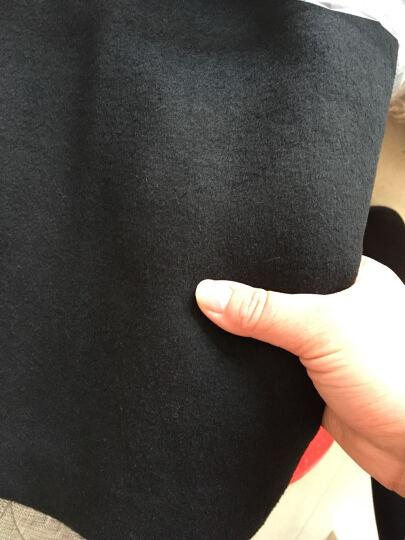 GZO毛呢大衣女 呢子大衣女2016新款羊毛呢大衣秋冬中长款韩版修身外套女装 毛呢外套女 黑色加棉 S 晒单图