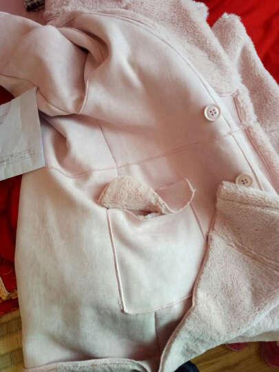 茗黛莎 毛呢大衣女2018新款韩版中长款加厚毛呢外套女修身显瘦羊绒大衣女818 灰色 M 晒单图
