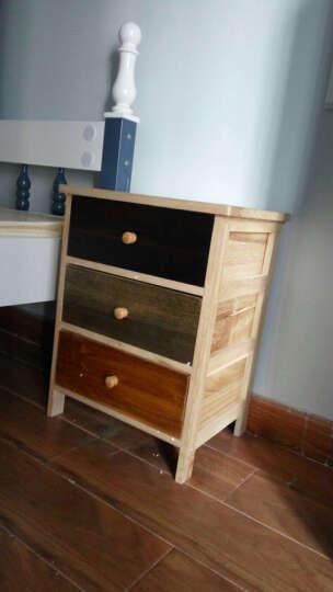 实木五斗柜卧室现代简约 彩色组合抽屉柜床头柜 CS-3 晒单图