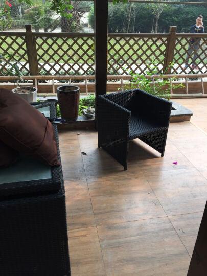 户外桌椅庭院藤椅阳台休闲室外露台餐厅茶楼酒店藤编家具 6椅+1桌+4脚踏(送坐垫)高背椅 晒单图