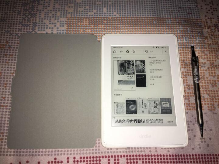 柏图 适配Kindle 958版保护套/壳 Kindle Paperwhite 1/2/3代 电纸书休眠皮套 白色-丛林萌兔 晒单图