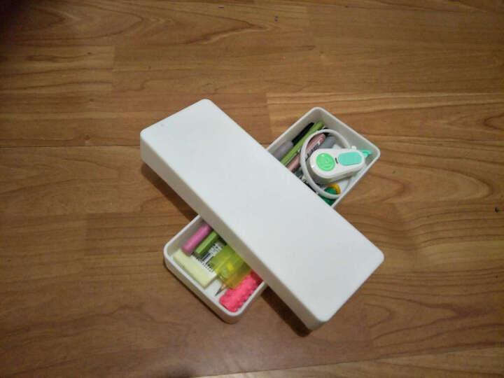 三年二班笔袋 纯色硅胶笔袋男女韩国 长方形笔盒铅笔盒 文具盒送同系列笔QX 白色不带笔 晒单图