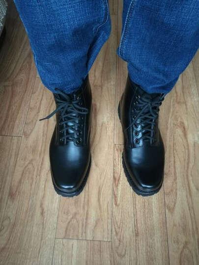 3513巡洋舰男靴春夏户外作战靴耐磨皮靴军迷靴子军勾军靴 3519 黑色 40 晒单图