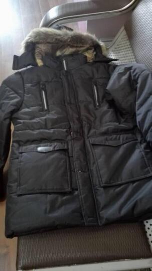 迈伯路  棉衣男秋冬新款棉服男韩版修身中长款潮男装外套大衣加厚 5821 黑色1 2XL/175 晒单图