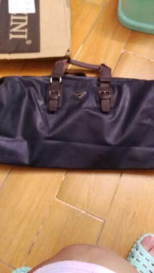 MAIWEINI 休闲男包短途超大容量旅行手提行李包 韩版商务出差旅行包单肩旅游包M4001 升级版蓝色 晒单图