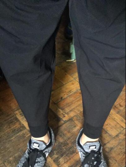 NOTHOMME设计师潮牌假两件裤子男士休闲运动裤 黑色 XXL 35-36 晒单图