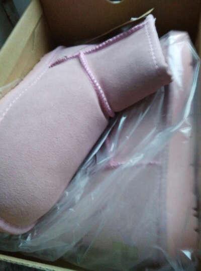 女士鞋 雪地靴女士 冬季多色真皮大码女士士短靴新款防滑保暖女士鞋 06栗色 41 晒单图