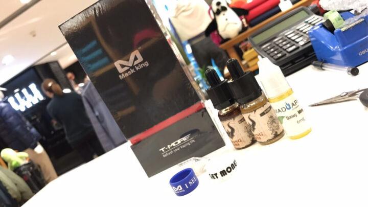 Mask king电子烟套装美国品牌T-MORE100W不锈钢盒子大烟雾电子烟 灰熊银黑款 晒单图