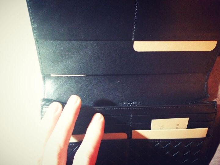 Bottega Veneta BV宝缇嘉 男士黑色牛皮编织长款对折钱夹 156819 V4651 1000 晒单图