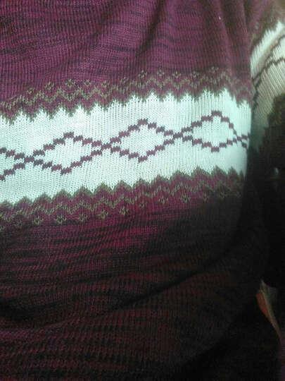 【过年换新装!】百搭针织男2016秋冬新款毛衣男士休闲套头圆领针织衫 337藏青+337米白 M 晒单图
