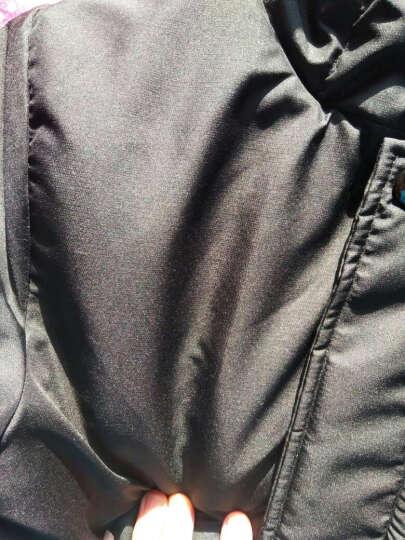 果力娃 童装2017新款韩版儿童装男童冲风衣外套春秋装连帽运动休闲上衣 藏青色 160码建议身高150cm左右 晒单图