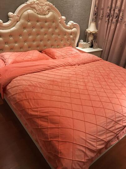 丽丝绒四件套加厚双面保暖水晶绒床上用品床品套件 江诗丹顿--天蓝 1.8-2.0m床适用(被套为220X240) 晒单图