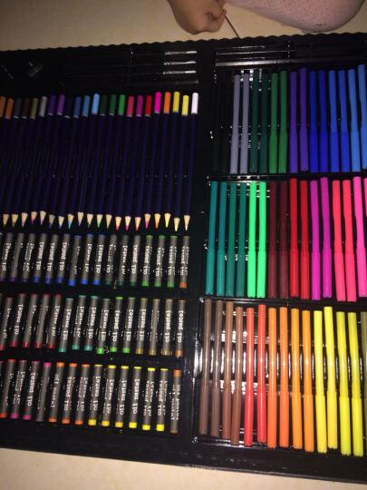 康大儿童绘画套装 小学生礼物蜡笔水彩笔颜料 儿童文具画画笔套装玩具 A199424/258件豪华套装 晒单图