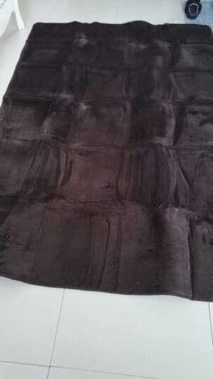 地毯客厅卧室防滑厨房机洗家用茶几地毯床边毯满铺垫法来绒 酒红色 200x300cm 晒单图