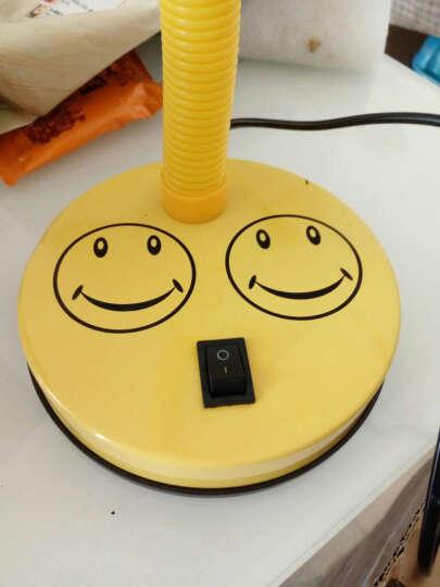 道远亮眼睛 卡通笑脸3w白光学生学习台灯办公卧室床头灯创意阅读写字灯 MT308S黄色 晒单图