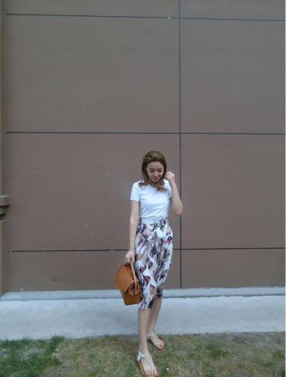 凯莎伊贝KASEABY单肩包真皮欧美复古斜挎包女士休闲手提包ktw0008 橙黄色 晒单图