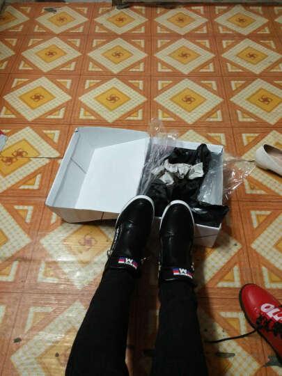 歌山品悦 春夏季韩版时尚内增高休闲鞋女鞋 黑色 37 晒单图